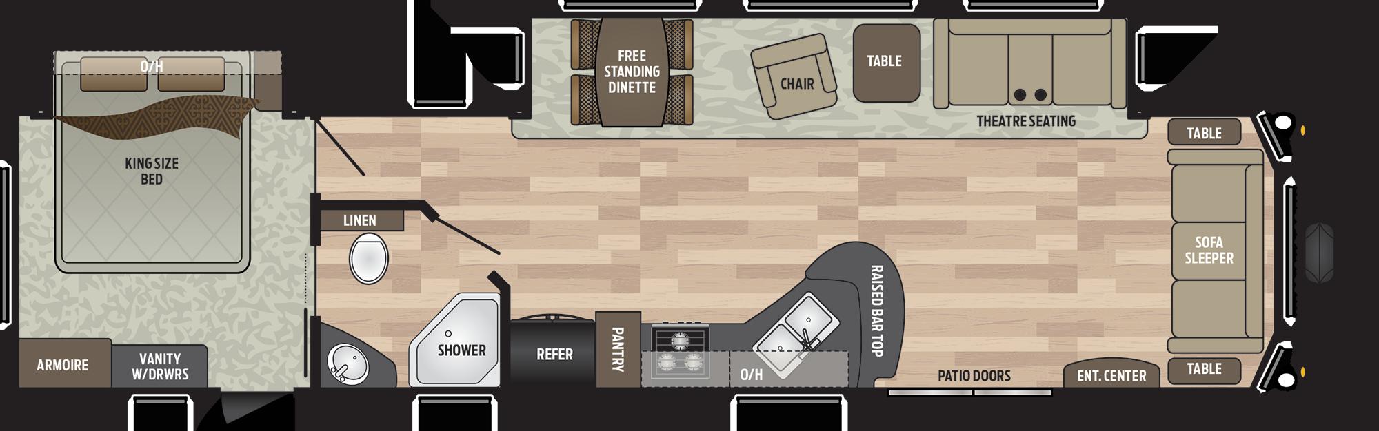 Download Residence 401fden Destination Trailer Front Living Travel Trailer Floor Plans Png Image With No Background Pngkey Com