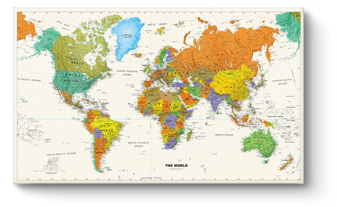 Download World Map School - High Quality World Map In Hd PNG Image ...