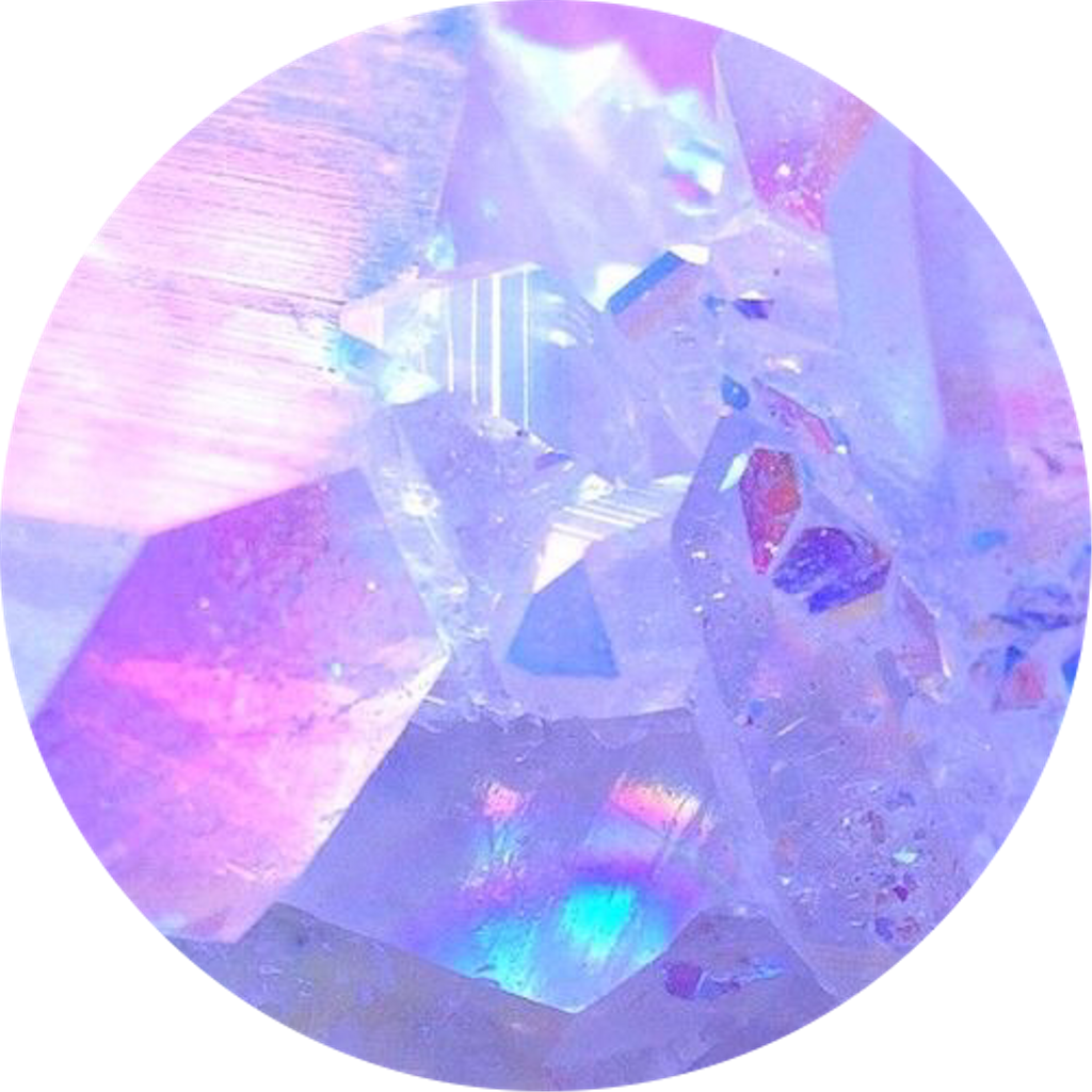 Download Aesthetic Pink Purple Gems Crystal Circle Icon Freetoed