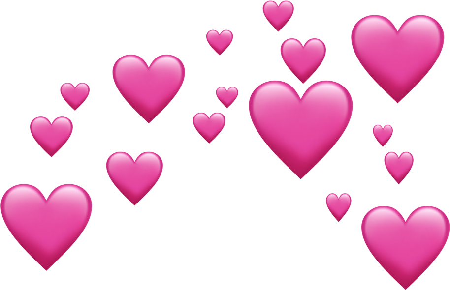 Heart Emoji Source - Pink Emoji Hearts (1024x1024), Png Download