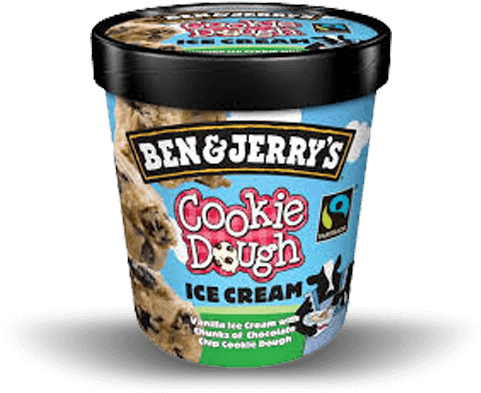 Cookie Dough Ben & Jerry S 150ml - Ben And Jerrys Cookie Dough Ice Cream (700x500), Png Download