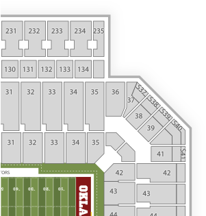 Download Ou Stadium Seating Chart With Rows Png Image With No Background Pngkey Com