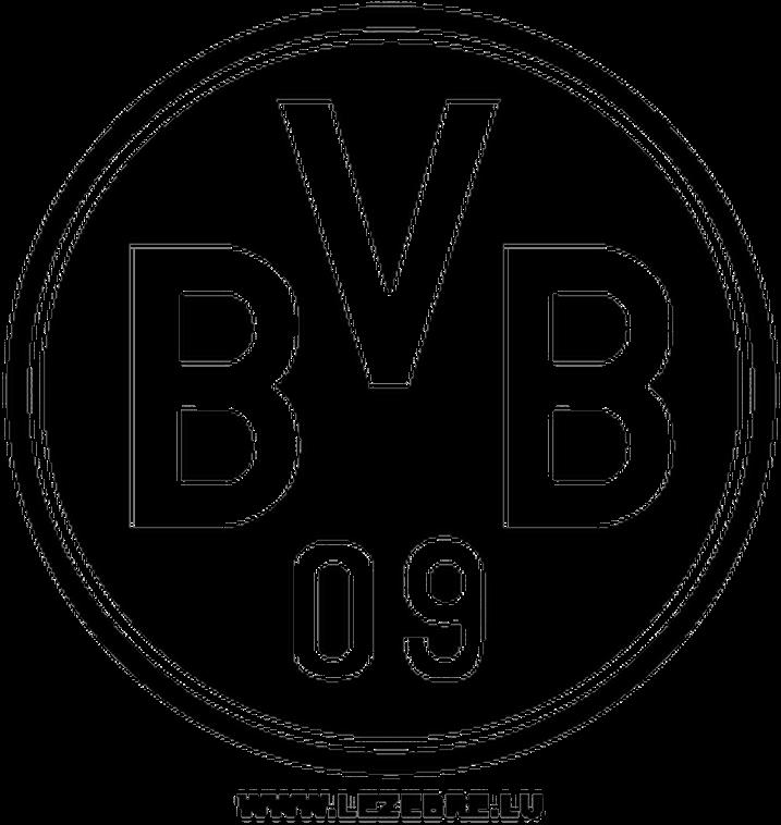 Download Borussia Dortmund Png Transparent Image Borussia Dortmund Logo Black And White Png Image With No Background Pngkey Com