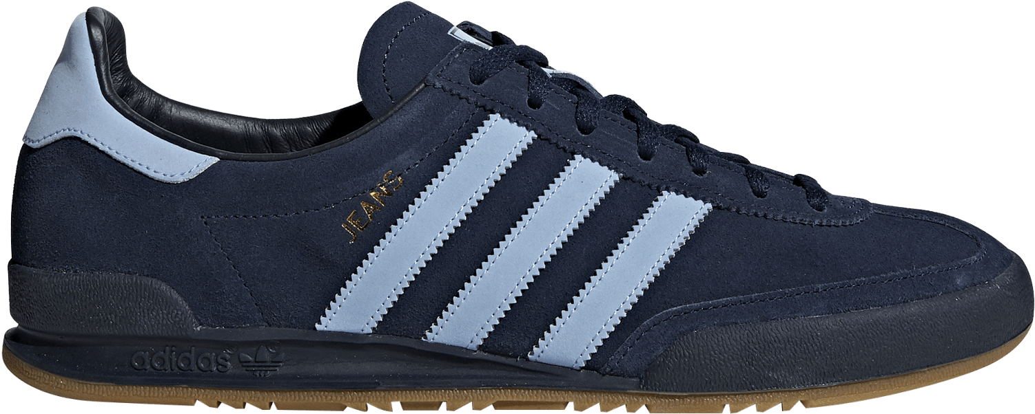 Blue Adidas Jeans Trainers PNG Image