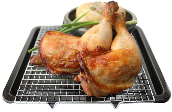 Download Double Roast Chicken Leg With Mashed Potato Chicken As