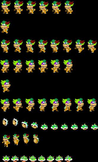 Pietro Le Cancre Koopa Sheet - Mario & Luigi Paper Jam Pixel Art (372x578), Png Download