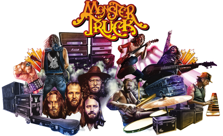 Monster Truck Album Cover - Monster Truck Band 2018 (780x474), Png Download