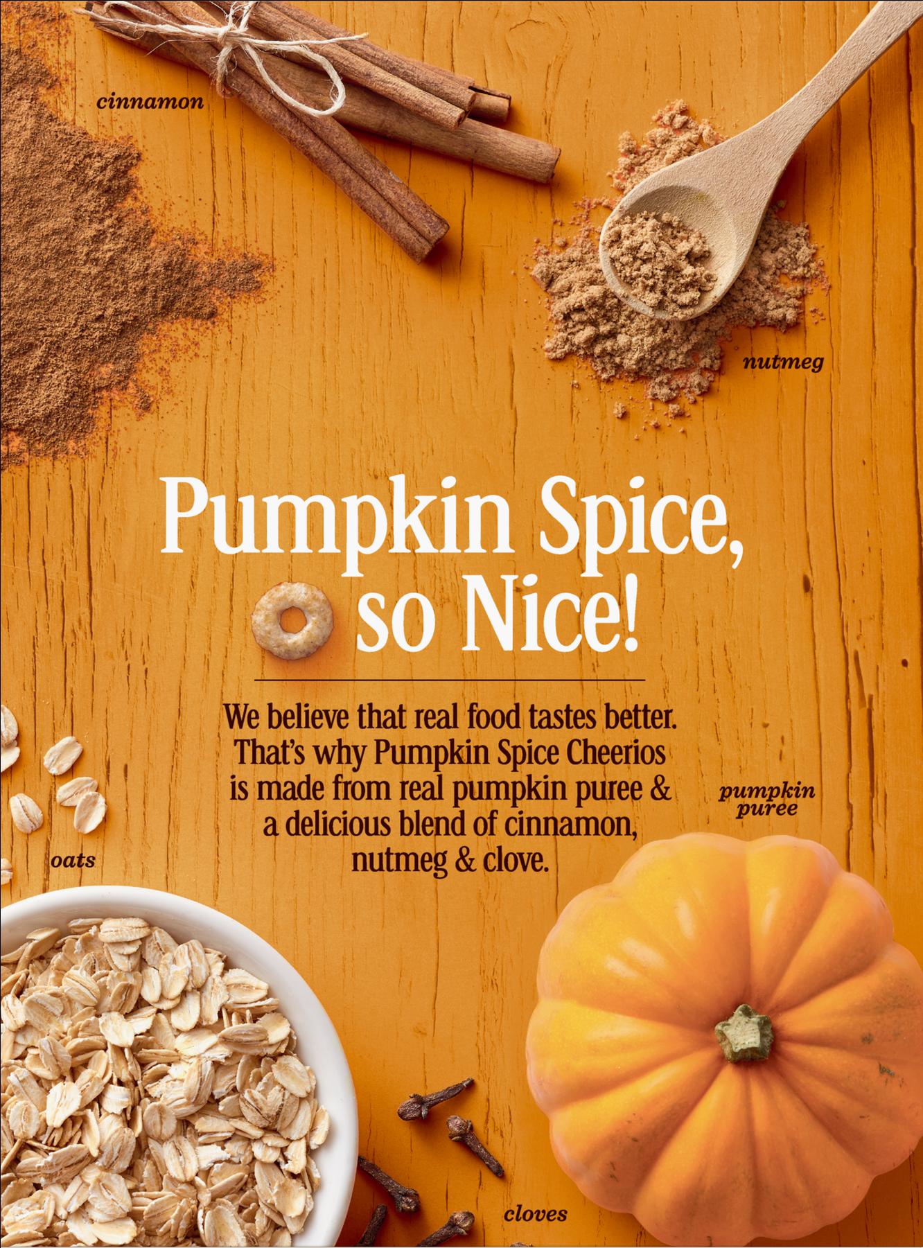 Pumpkin Spice Cheerios, Gluten Free, Cereal With Oats - Pumpkin Spice Cheerios Box (1800x1800), Png Download