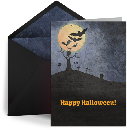 Happy Halloween Gorgeous Wishes To You - Happy Halloween Cards (460x460), Png Download