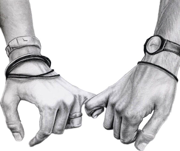 Download Holdinghands Love Couple Sketch Blackandwhite Hands Holding Hands Drawing Realistic Png Image With No Background Pngkey Com