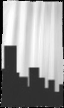 New York City Skyline Silhouette Sheer Window Curtain - Skyline (400x400), Png Download