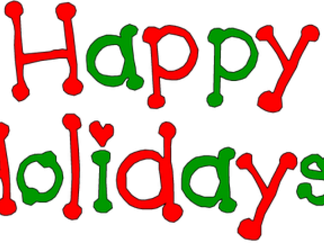 Holydays Clipart December - Wish You Happy Holidays Png (640x480), Png Download