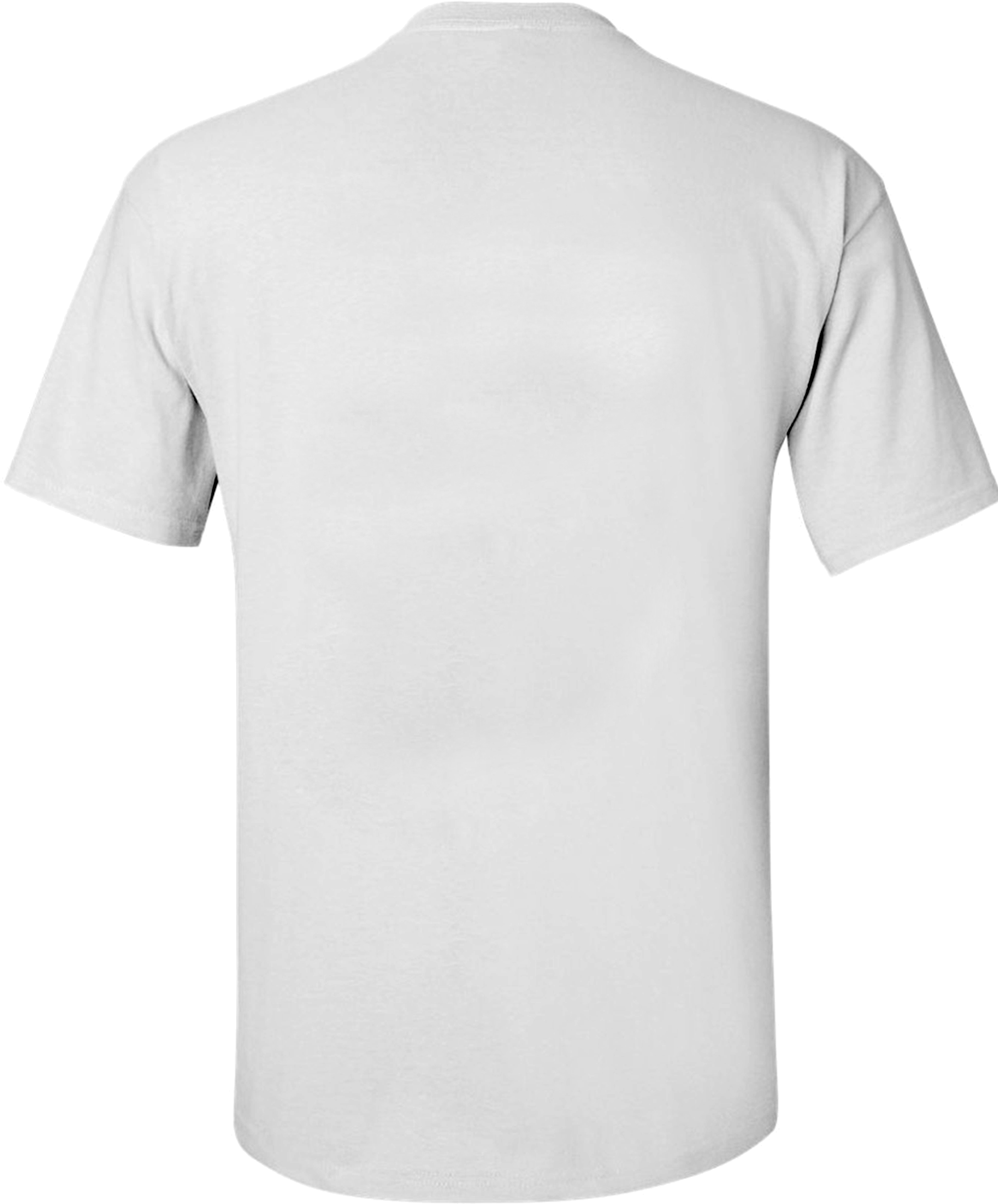 White T Shirt Front And Back Png - White Tshirt Back Png (1680x2035), Png Download