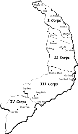 Download Corps Map Vietnam War Corps Areas Png Image With No