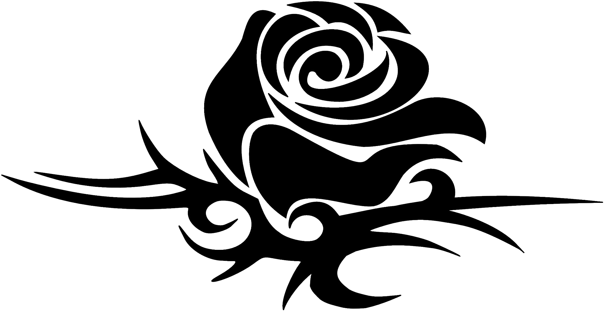 Download Love Tattoo Download Png Image Tribal Rose Png Image With No Background Pngkey Com