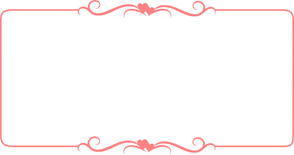 Free Frames And Borders, Cute Borders, Borders Free, - Vintage Border Pink Png (600x318), Png Download