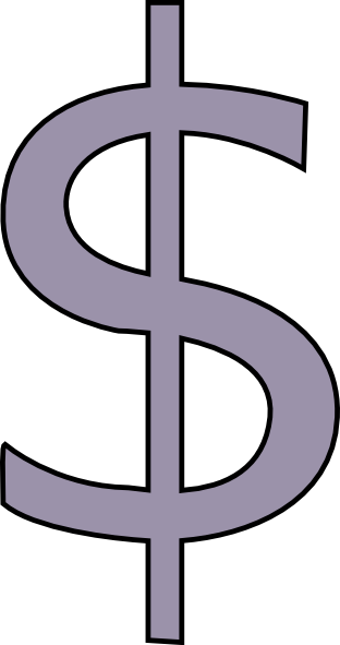 Dollar sign gray. Download grey clipart png