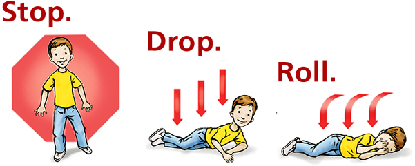 Download Stop Drop And Roll - Fire Stop Drop And Roll PNG Image with No  Background - PNGkey.com