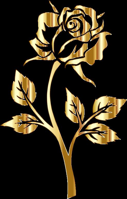 Download Medium Image Gold Flower No Background Png Image With No Background Pngkey Com