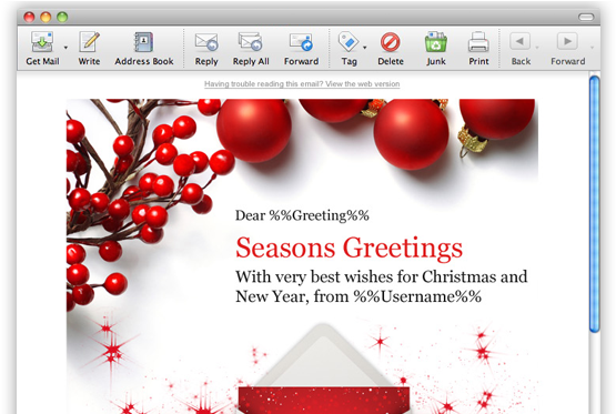12 Outlook Email Signature Templates Samples Examples - Email Marketing Christmas Greeting (618x372), Png Download
