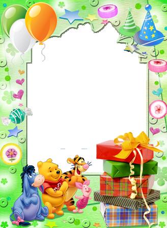 Download Regalo De Cumpleanos De Winnie اطارات لصور عيد ميلاد Png Image With No Background Pngkey Com