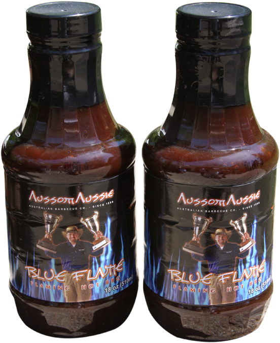 Our Original Xxxtreme Hot Bbq Sauce Called Blue Flame - Bottle (600x900), Png Download
