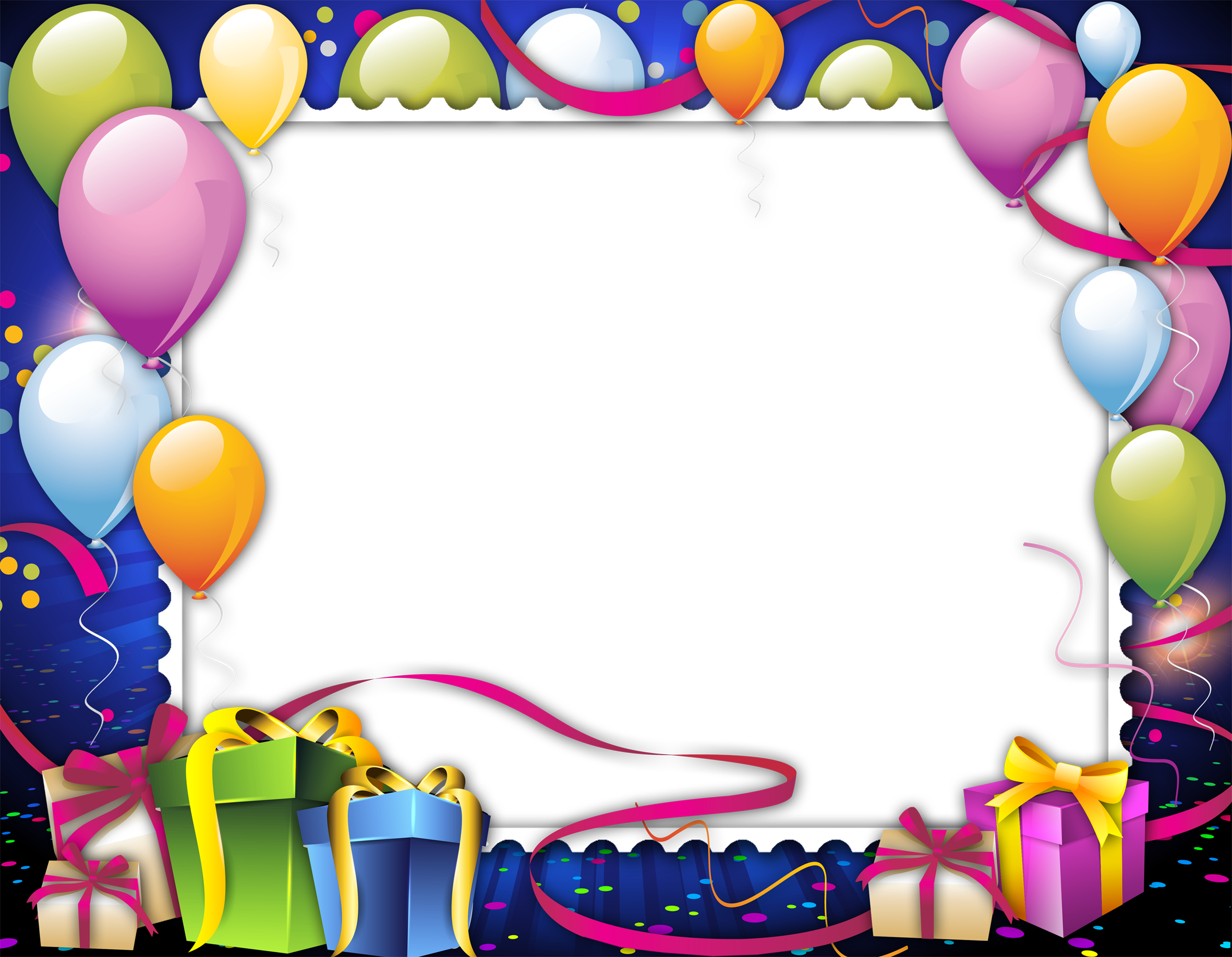 Birthday Frame Png Images Free Download Clip Free - Frames Happy Birthday Png (2362x1835), Png Download