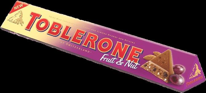 Chocolate Treats - Toblerone Fruit & Nut Milk Chocolate - 3.52 Oz (684x440), Png Download