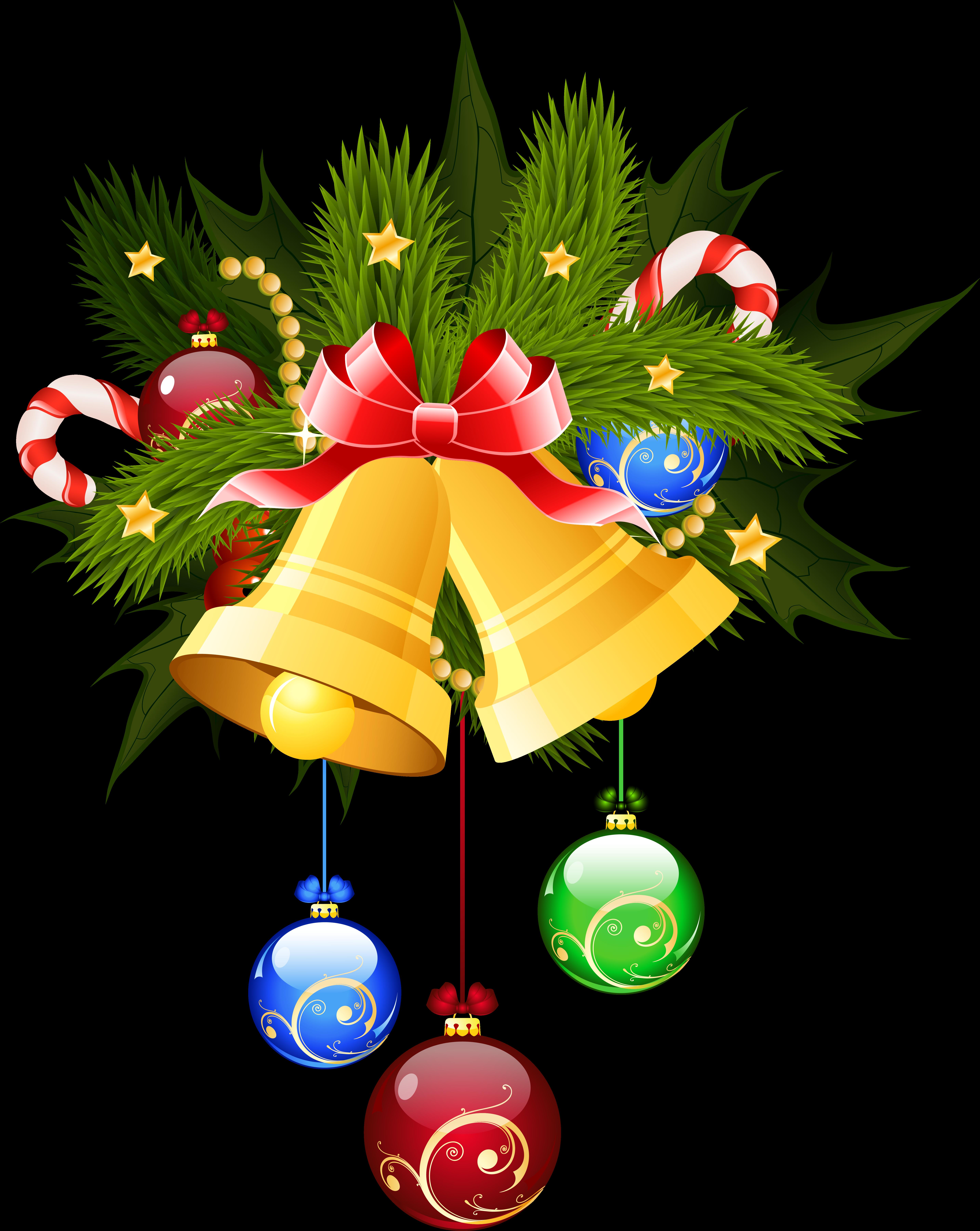 Акварель, колокольчики новогодние картинки для детей