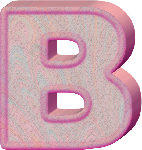 Download The Letter B Fancy Presentation Alphabets - Happy