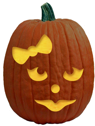 Download Pumpkin Carving Patterns Easy Girl Pumpkin Carving Png Image With No Background Pngkey Com