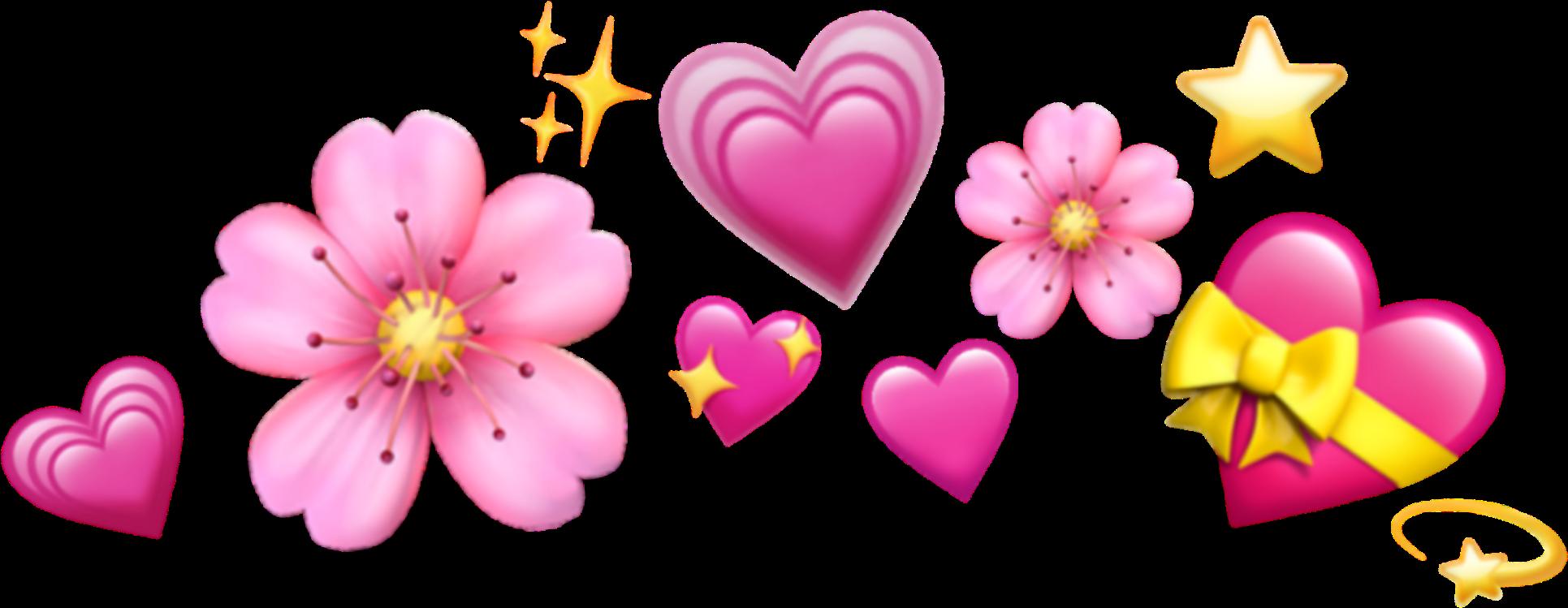 Download Emoji Crown Hearts Emojis Tumblr Icon Sticker Janaina