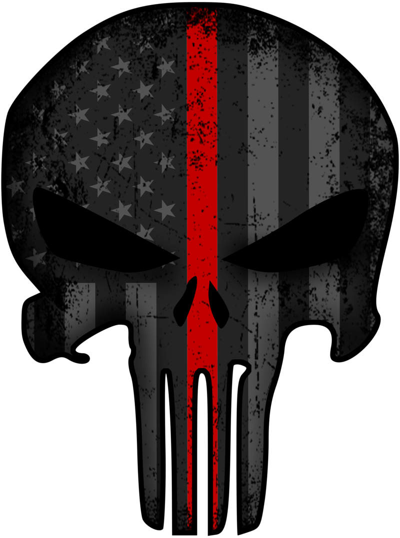 Download Punisher Thin Red Line Decal Thin Blue Line Punisher