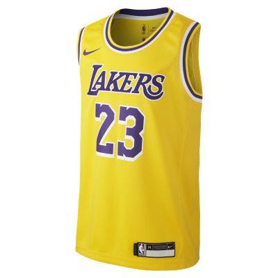 Lebron James Los Angeles Lakers Nike Icon Edition Swingman - Lebron James Laker  T Shirts ( 879bf142b