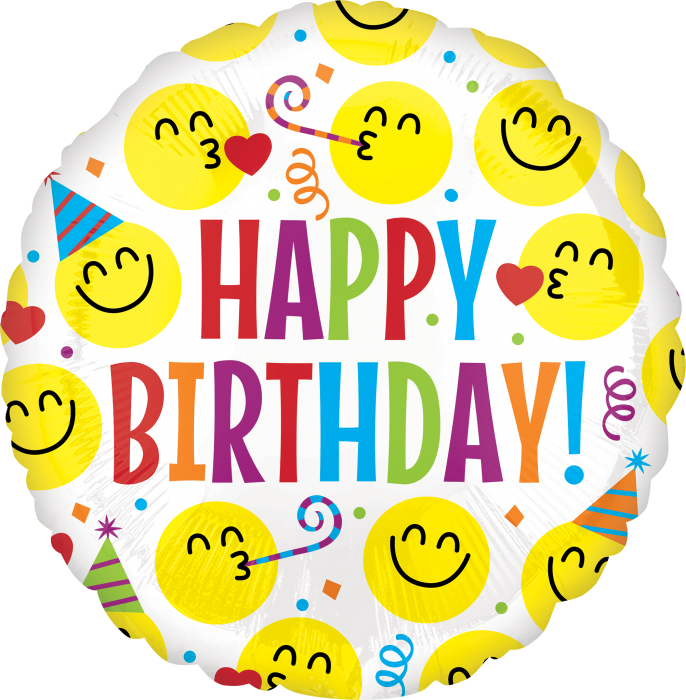 Smiley Emoji Happy Birthday 686x700 Png Download