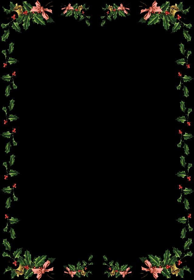 Free Christmas Frames And Borders - Christmas Border (642x930), Png Download
