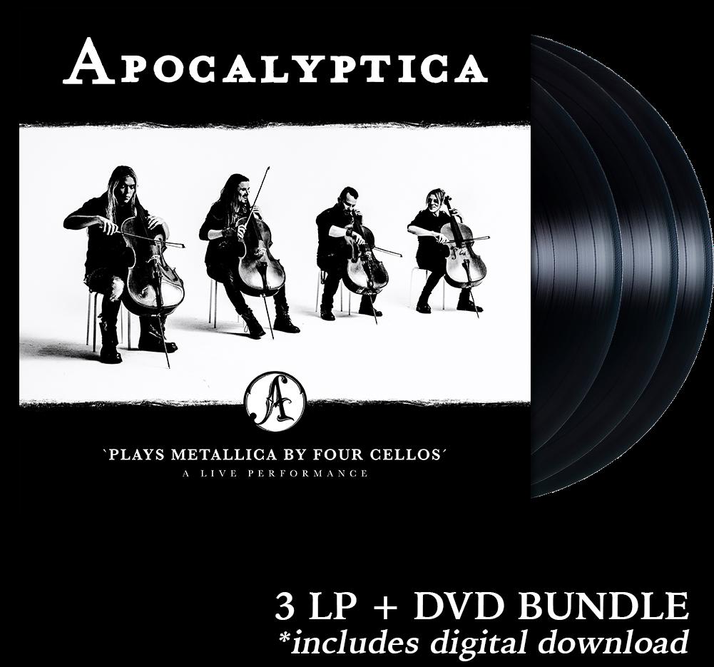 Apocalyptica plays metallica live performance 3 lp + dvd + 2018.