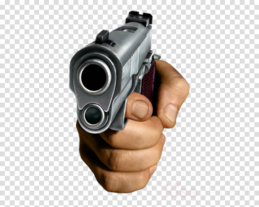 Download Hand Holding Gun Png Clipart Firearm Pistol - Hand With Gun Transparent (900x720), Png Download