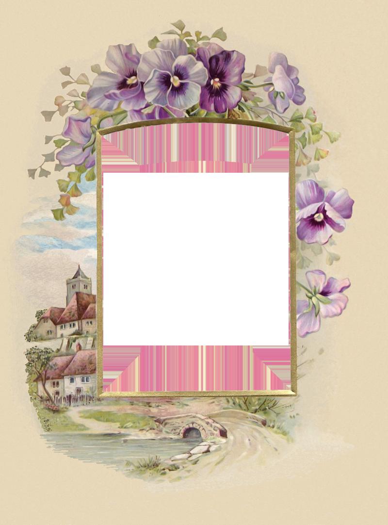 Белые картинки, рамка в виде открытки