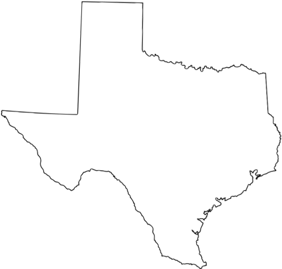State Of Texas Map Outline.Top 10 Punto Medio Noticias Texas Map Outline Png