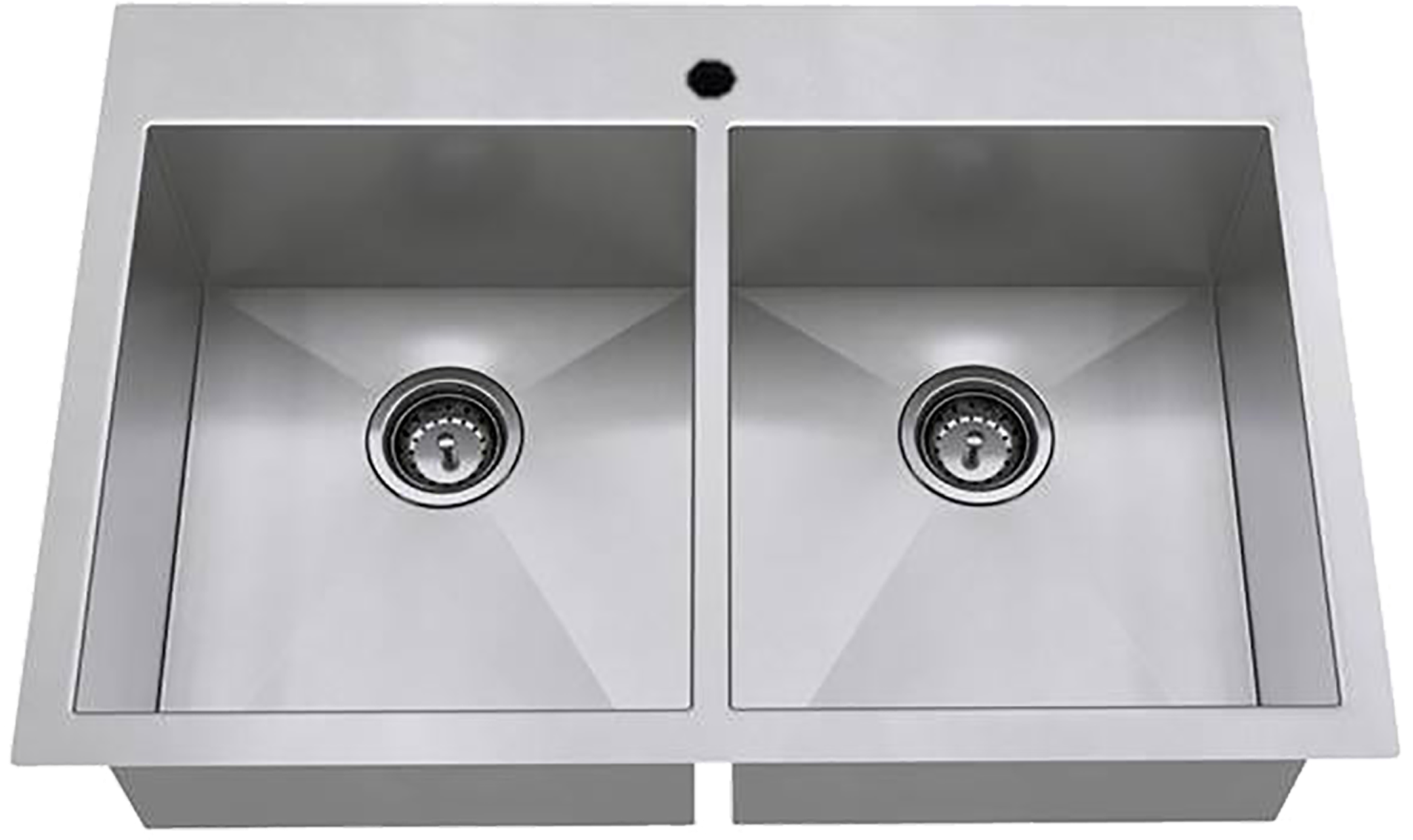 Stainless steel double kitchen sink 2000x2000 png download