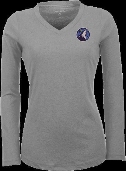 Minnesota Timberwolves Women's Flip Long Sleeve T-shirt - Long-sleeved T-shirt (500x667), Png Download