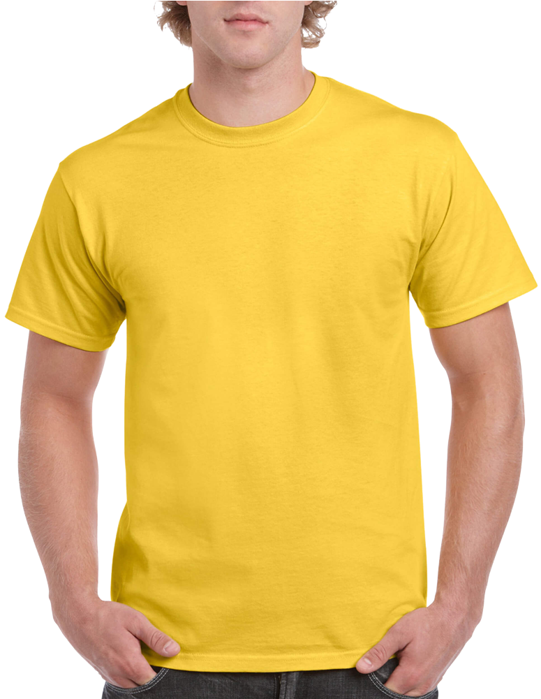 Full Color Shirts - Yellow Blank T Shirt (1000x1000), Png Download