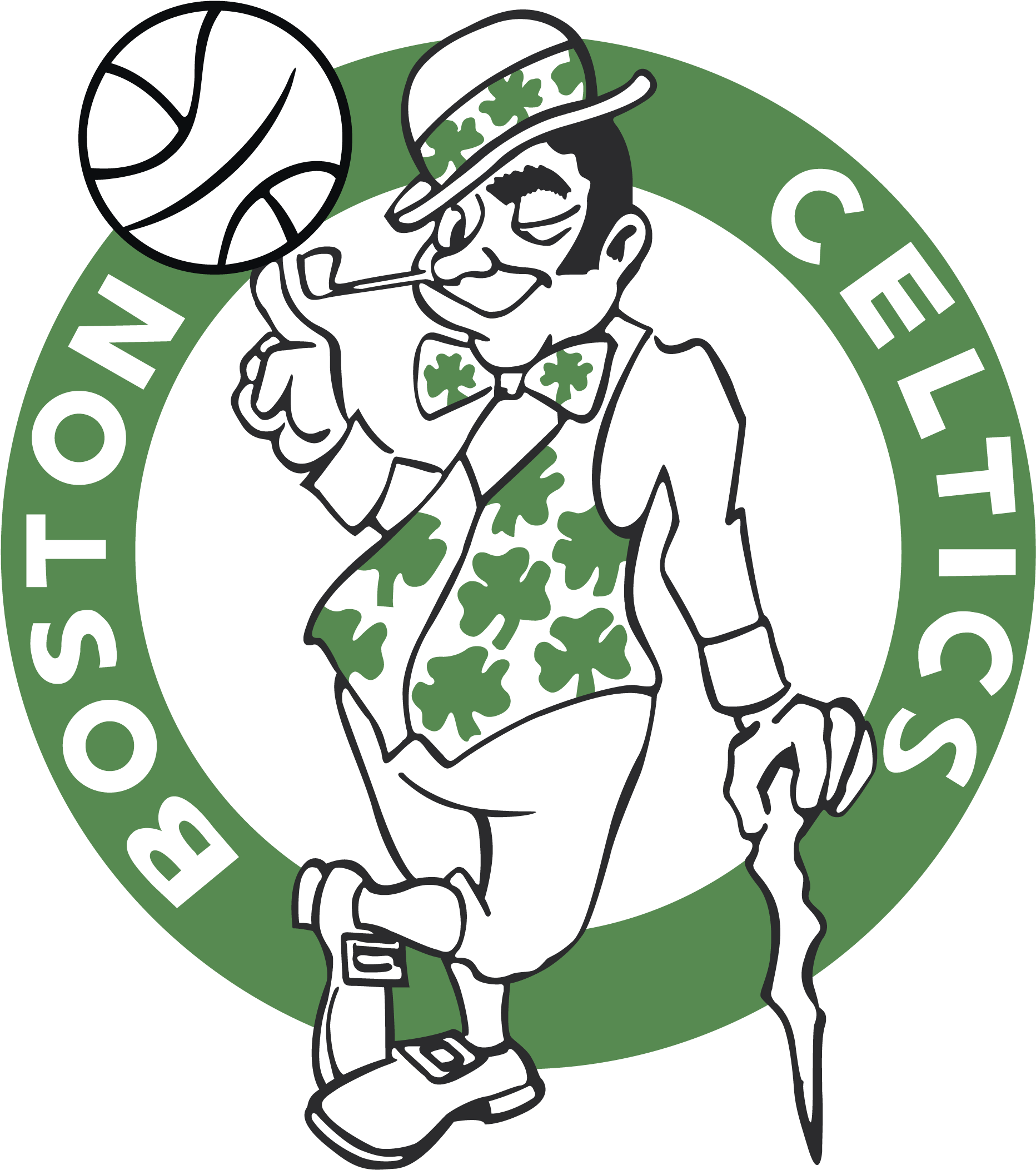 Download Boston Celtics Logo Boston Celtics Logo Black And White Png Image With No Background Pngkey Com