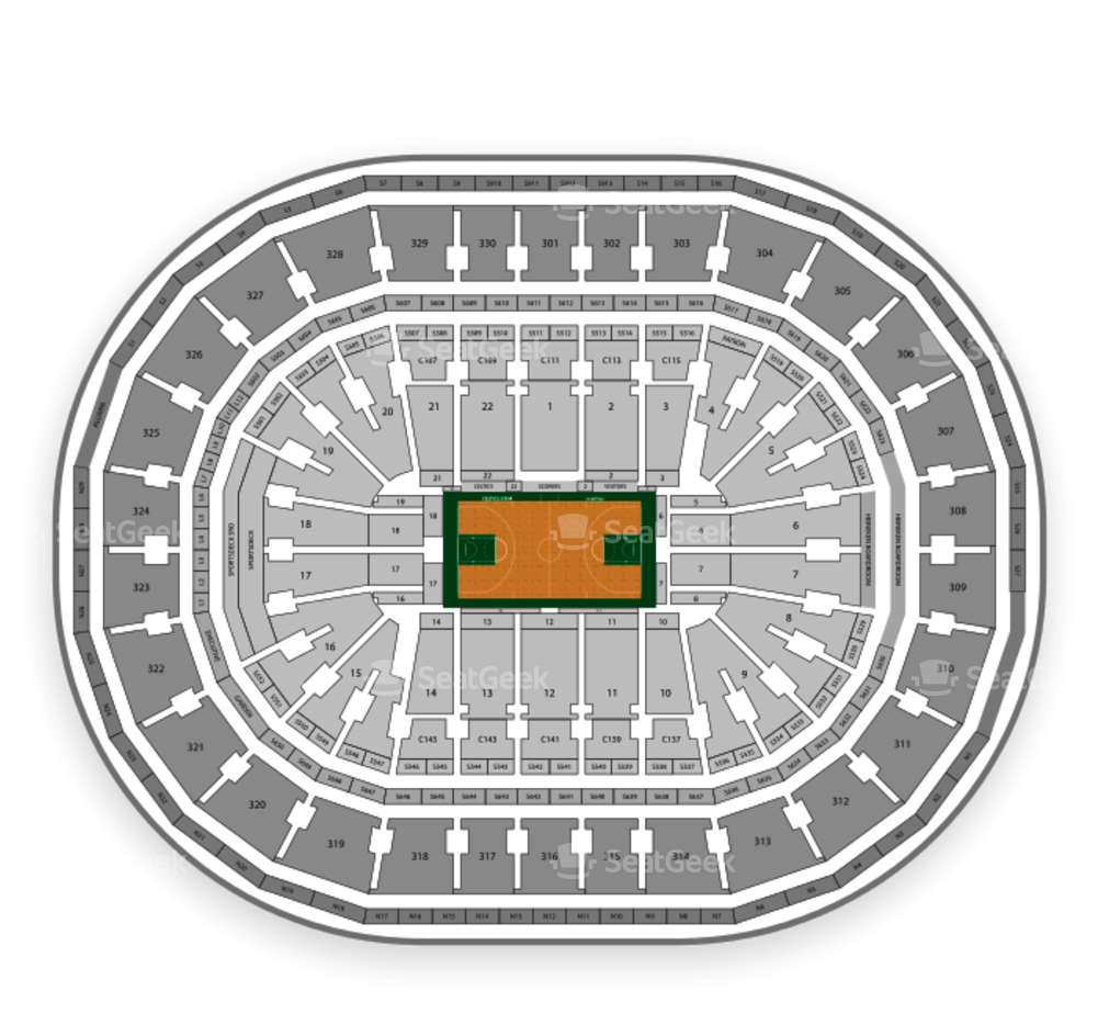 Download Boston Celtics Seating Chart Td Garden Png Image With