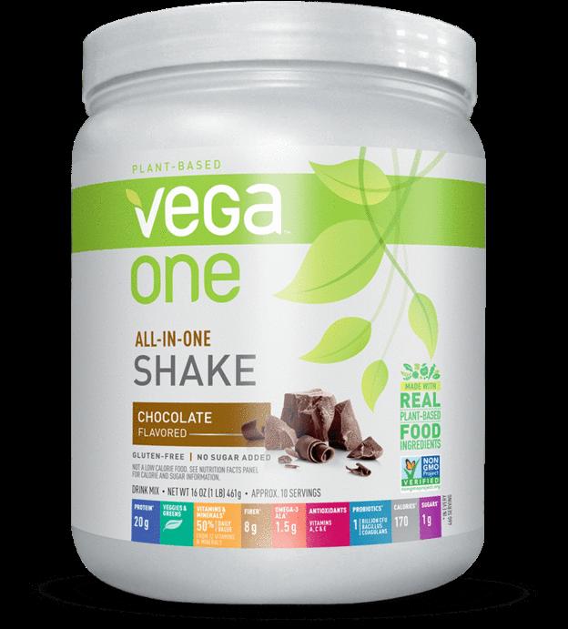 Vega One® All In One Shake - Vega One All-in-one Nutritional Shake, Chocolate, 16 (1120x1120), Png Download
