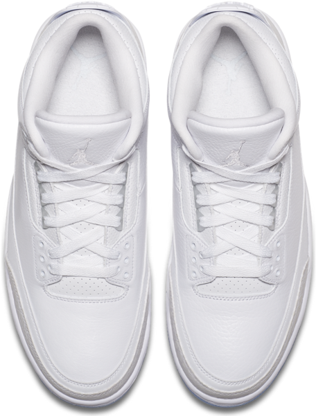 sale retailer 0d78a 327a7 Download Air Jordan 3 Pure White On Feet PNG Image with No ...
