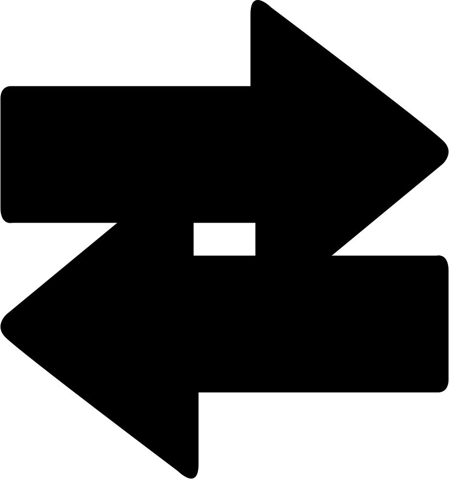 Two-way Arrows - - Flecha En Dos Sentidos (918x981), Png Download