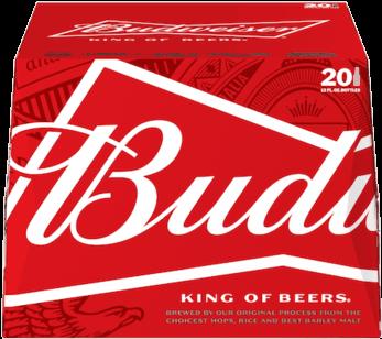 Bud Light - Budweiser Beer - 24 Pack, 12 Fl Oz Bottles (348x348), Png Download