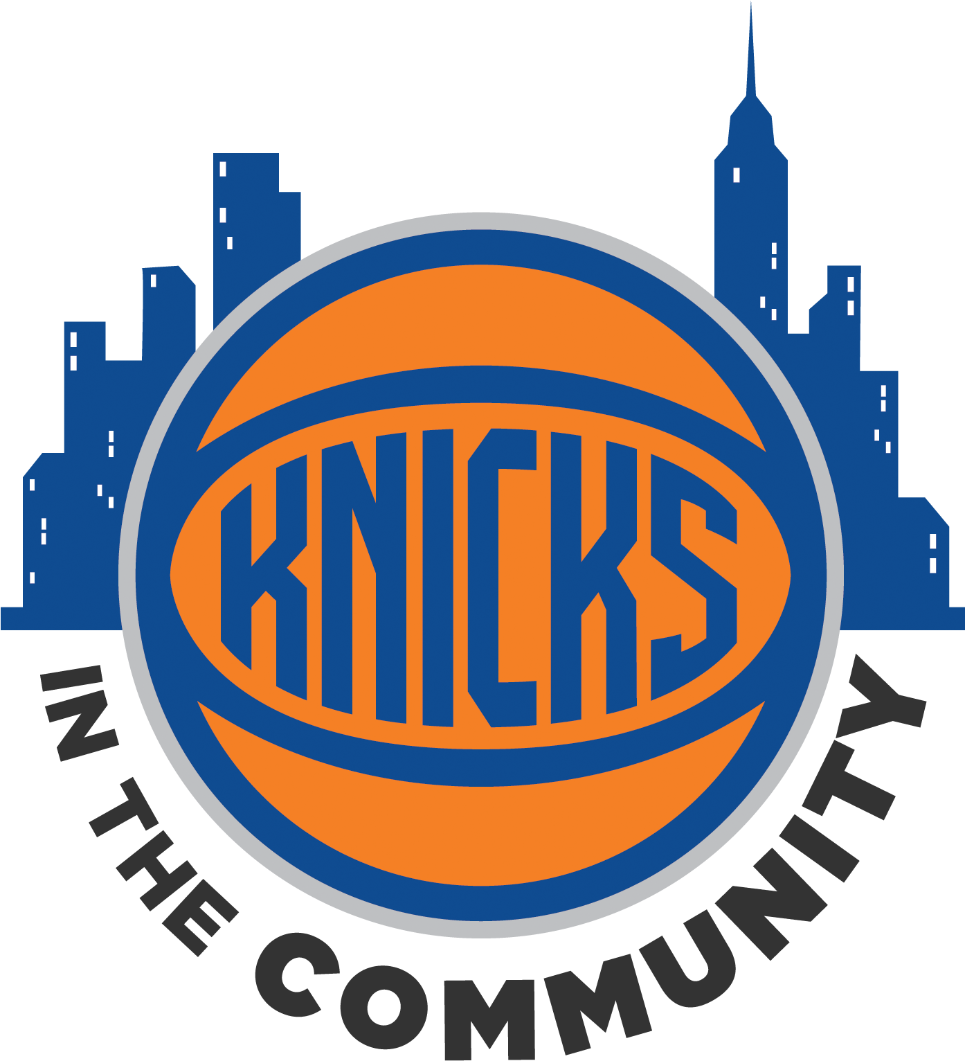 New York Knicks And Garden Of Dreams Thanksgiving Dinner - New York Knicks 2017 Logo (1393x1570), Png Download